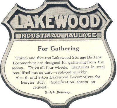 Lakewood Mining Locomotive, Lakewood Locomotive