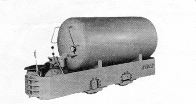 Eimco Locomotive, Air Trammer, Eimco Compressed Air Locomotive, Eimco Mine Locomotive
